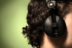 Urban style photo of the man in headphones Stock Image