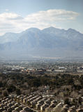 Urban and suburban residential area. The Las Vegas residential area is shown among desert and mountains Stock Image