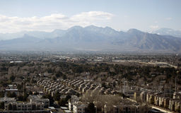 Urban and suburban residential area. The Las Vegas residential area is shown among desert and mountains Stock Images