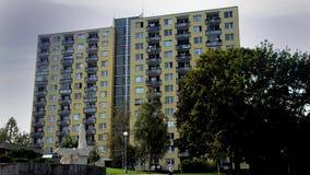 Urban suburbs. Building, in Sleeping quarters stock footage