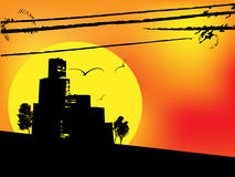 Urban sunsest Stock Image