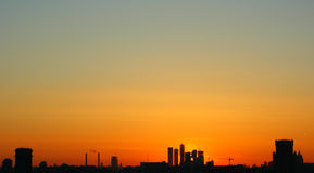 Urban sunset Royalty Free Stock Image