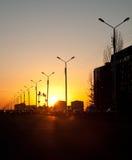 Urban sunset Royalty Free Stock Photography