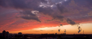 Urban at sunset Stock Photo