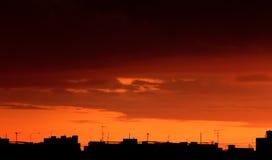 Urban sunset stock photos