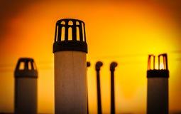 Urban sunset sunrise Stock Images