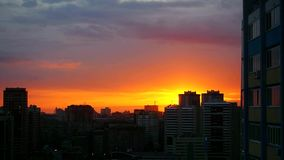 Urban Sunset Timelapse. 1920x1080. Hd stock video footage