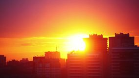 Urban Sunset Timelapse. 1920x1080. Hd stock footage