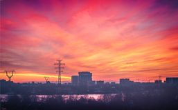 Urban sunset Royalty Free Stock Images