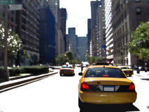 Urban taxi Royalty Free Stock Photography
