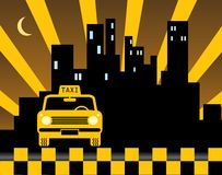 Urban taxi background Royalty Free Stock Image