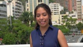 Urban Teen Girl Smiling stock video