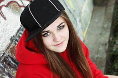 Urban Teenager Young Woman Royalty Free Stock Images