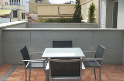 Urban terrace in a residential home Royalty Free Stock Images
