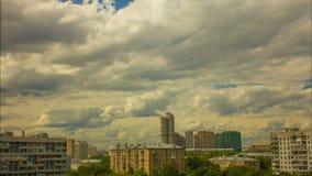 Urban tidschackningsperiod, moscow, bostads- fjärdedel stock video