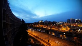 Urban Time lapse in Kansas City. Time lapse of the blue hour in the country club district of Kansas City Missouri stock video footage