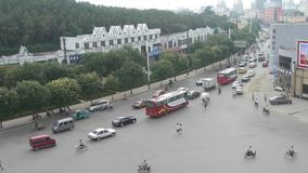 Urban town busy road traffic,Asia China Chinese people. Gh2_02786 stock footage