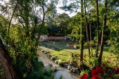 Urban trädgård i staden av Bayreuth Arkivbilder
