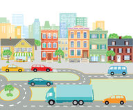 Urban traffic in the city, transport Royalty Free Stock Photos
