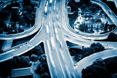 Urban traffic junctions Stock Photos