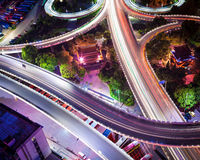 Urban traffic junctions Stock Photography