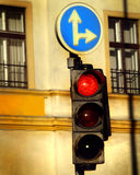 Urban traffic light Stock Images