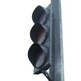 Urban traffic light against the sky Stock Photo