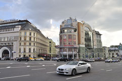 Urban traffic in Moscow. Royalty Free Stock Photo