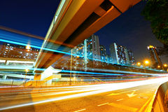 Urban traffic at night Royalty Free Stock Images