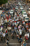 Urban traffic, polution, exhaust fumes, Vietnam Royalty Free Stock Photography