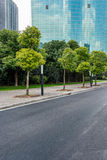 Urban traffic road with cityscape in background in Shanghai. China Royalty Free Stock Images