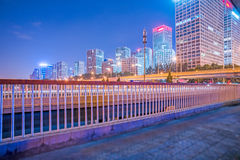 Urban traffic road with cityscape in Beijing Royalty Free Stock Images