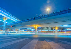 Urban traffic road with cityscape in Beijing,China Royalty Free Stock Images