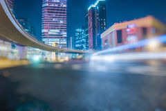Urban traffic road with cityscape at night in China Stock Images