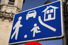 Urban Traffic Safty Sign Stock Photos