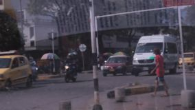 Urban Traffic In Tinted Glass. Stock video of urban traffic in tinted glass stock video