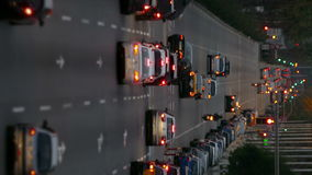 Urban traffic. Vertical format stock video footage