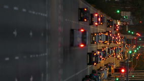 Urban traffic. Vertical format.Wake effect stock footage