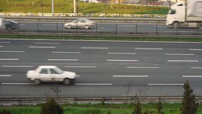 Urban trafic timelapse. Timelapse footage of traffic on urban motorway stock video footage