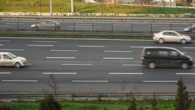 Urban trafic timelapse Stock Image