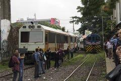 Urban train in San Jose Costa Rica Royalty Free Stock Photo