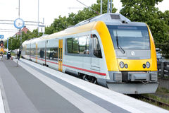 An urban train in Sweden Royalty Free Stock Photos