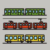 Urban transport car silhouettes Stock Photo