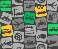 Urban transport, colored background, seamless. Royalty Free Stock Images