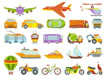 Urban transport colored vector illustration. City transportation and transporter isolated on white background.  Royalty Free Stock Image