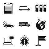 Urban transport icons set, simple style Stock Photos
