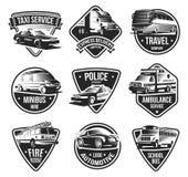 Urban Transport Logotype Set royalty free illustration