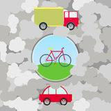 Urban transport and pollution Royalty Free Stock Photos