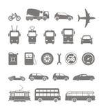 Urban transport silhouettes Stock Photos
