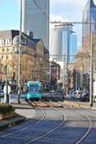 Public transportation in Frankfurt city Royalty Free Stock Image